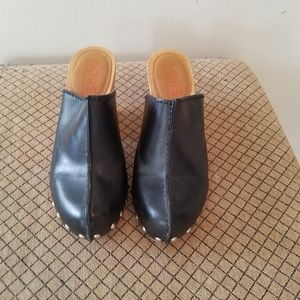 Michael Kors wood heels